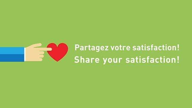 Partagez votre satisfaction!   Share your satisfaction!
